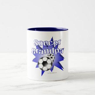 Soccer Grandpa Two-Tone Coffee Mug