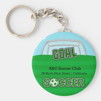 Soccer (green) keychain