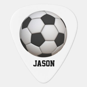 Soccer Guitar Pick by Lilleaf at Zazzle
