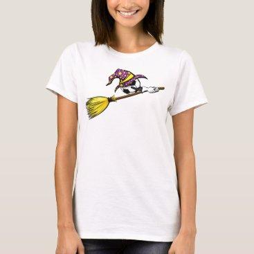Halloween Themed Soccer Halloween Witch T-Shirt