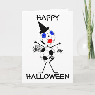 Soccer Happy Halloween Card