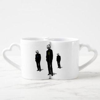 Soccer Heads Couples Coffee Mug