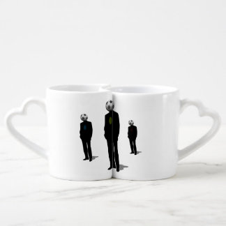 Soccer Heads Couples' Coffee Mug Set