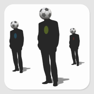 Soccer Heads Square Sticker