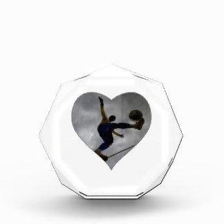 SOCCER HEART Acrylic Octagon Award