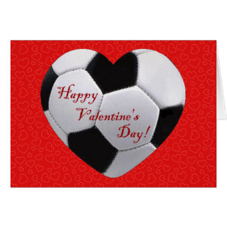 Perfekt Soccer Heart Happy Valentines Greeting Card