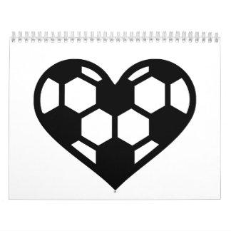 Soccer heart love calendar