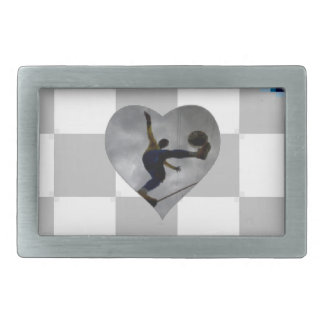 SOCCER HEART Pewter Wear your self-expression Belt Buckles