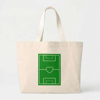 soccer,Heart Pitch.l love soccer Jumbo Tote Bag