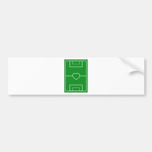 soccer,Heart Pitch.l love soccer Bumper Stickers