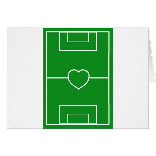 soccer,Heart Pitch.l love soccer Card