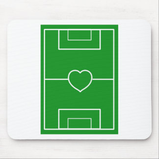 soccer,Heart Pitch.l love soccer Mouse Pad