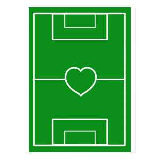 soccer,Heart Pitch.l love soccer Postcard
