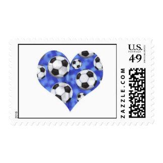 Soccer Heart Postage