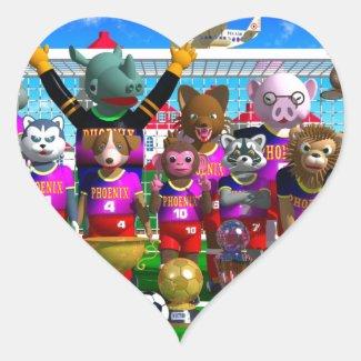 Soccer Heart Sticker