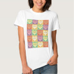 Soccer Hearts in Square T-shirt