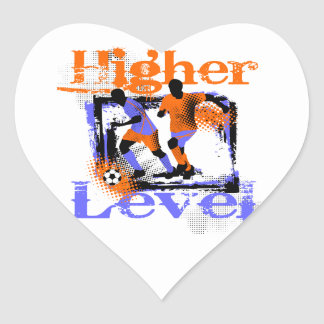 Soccer Higher Level Tshirts and Gifts Heart Sticker