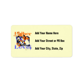 Soccer Higher Level Tshirts and Gifts Address Label