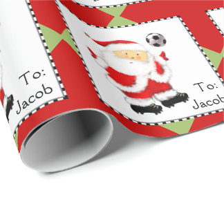 Soccer Holidays Wrapping Paper