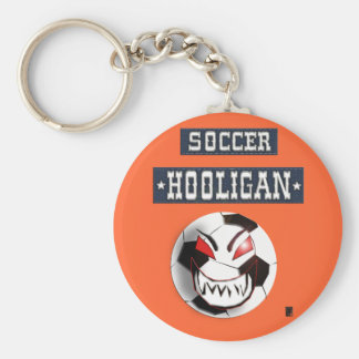 soccer hooligan basic round button keychain