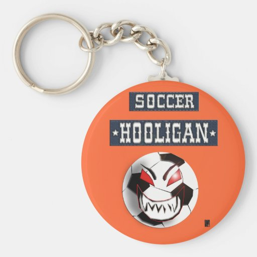 soccer hooligan key chains