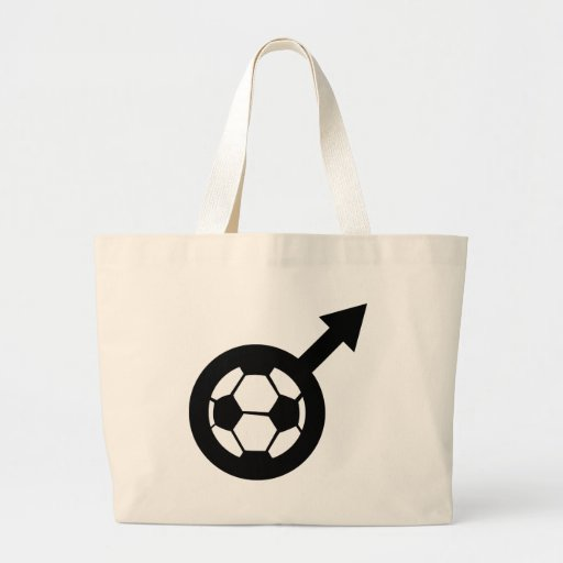 soccer icon for men canvas bag