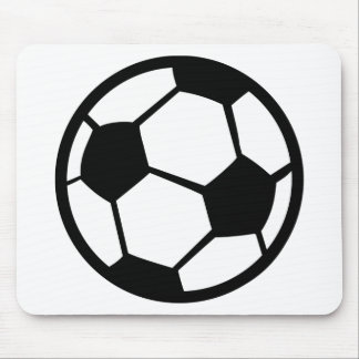 soccer icon mouse pad