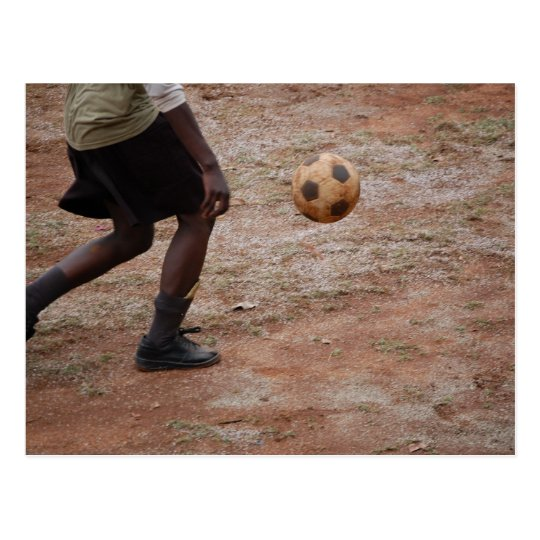 Soccer In Africa Postcard
