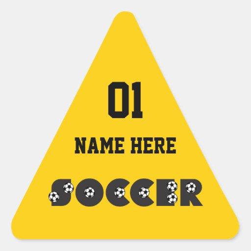 Soccer in Black Sticker
