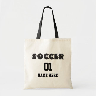 Soccer in Black Tote Bag