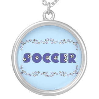 Soccer in Blue Personalized Necklace