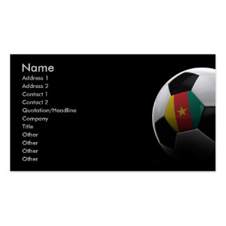 Soccer in Cameroon Double-Sided Standard Business Cards (Pack Of 100)