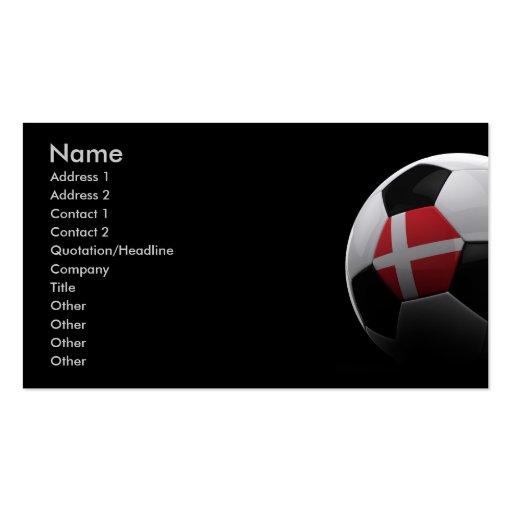 Soccer in Denmark Business Card Templates