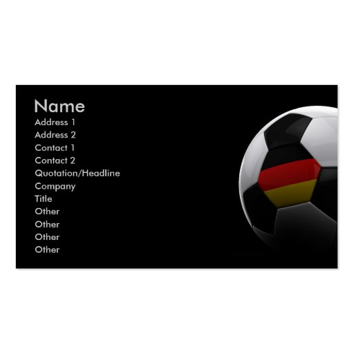 Soccer in Germany Business Cards