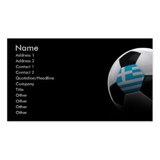 Soccer in Greece Business Card Templates