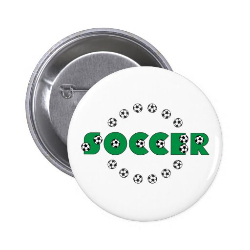 Soccer in Green 2 Inch Round Button