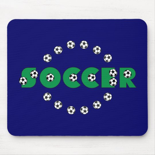 Soccer in Green Mouse Pad