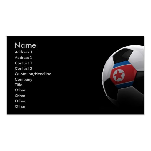 Soccer in North Korea Business Card Template