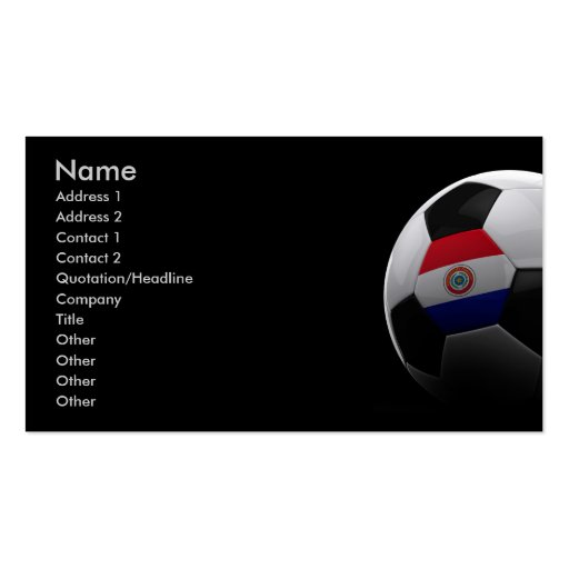 Soccer in Paraguay Business Cards