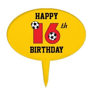 Soccer in Red 16th Birthday