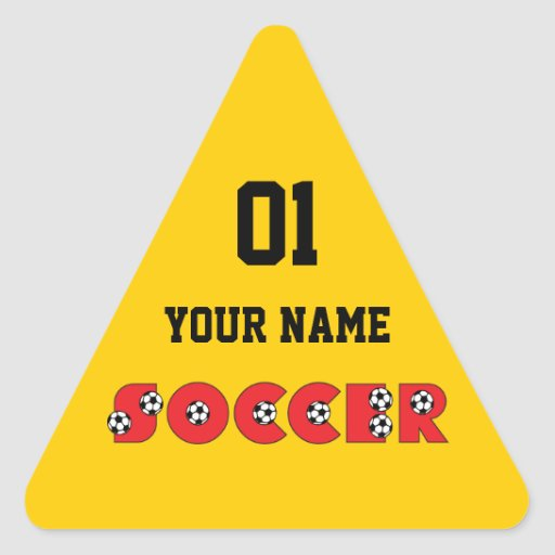 Soccer in Red Stickers