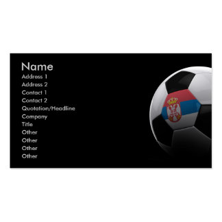 Soccer in Serbia Double-Sided Standard Business Cards (Pack Of 100)