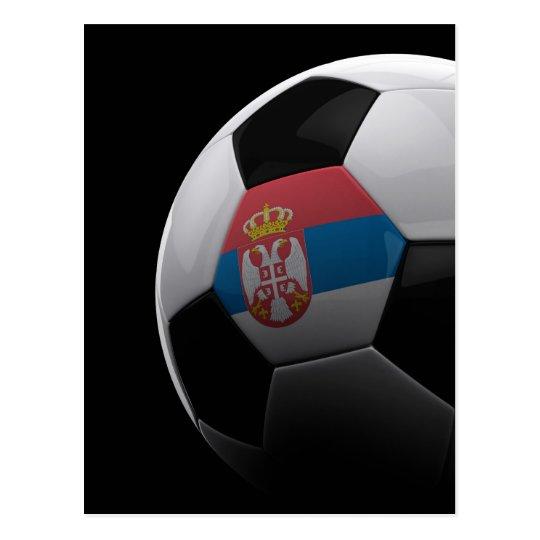 Soccer in Serbia Postcard