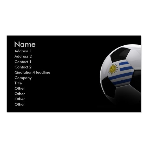 Soccer in Uruguay Double-Sided Standard Business Cards (Pack Of 100)