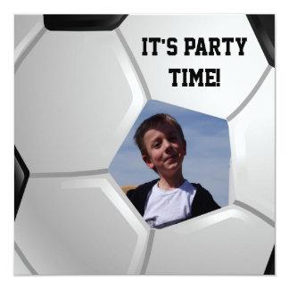 Soccer 5.25x5.25 Square Paper Invitation Card