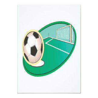 Soccer 5x7 Paper Invitation Card