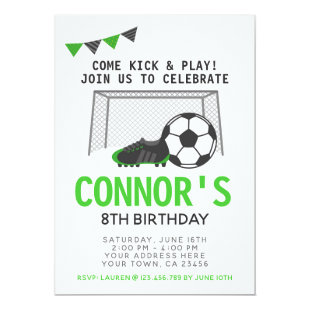 Soccer Invitation, Sport Birthday Party Invitation