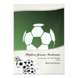Soccer Invitational Bar Mitzvah 5x7 Paper Invitation Card
