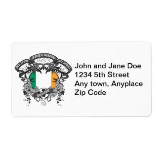 Soccer Ireland Shipping Label