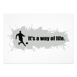 Soccer is a Way of Life Personalized Announcement